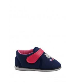 Pallas x Hello Kitty Toddler Girls Shoe HK01-010 Navy Blue  Pipi Walking