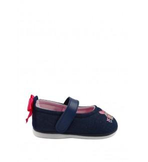 Pallas x My Melody Toddler Girls Shoe MY01-001 Navy Blue Pipi Walking