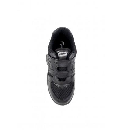 Pallas School Shoe Jazz Single Velcro Strap 205-0196 Black