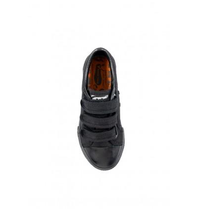 Pallas School Shoe Jazz Three Velcro Straps 205-0198